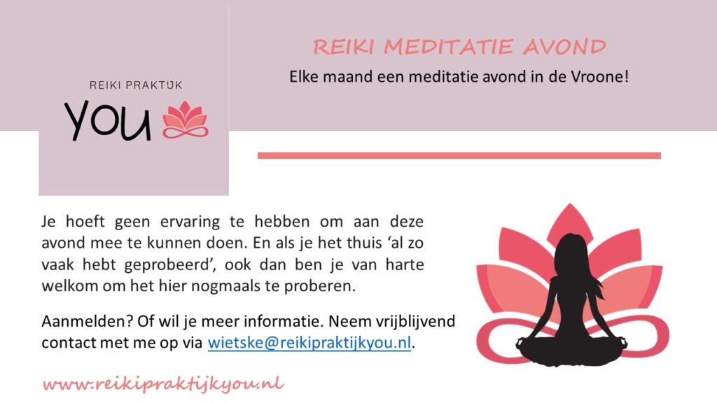 Meditatie avond Body & Mind @ De Vroone